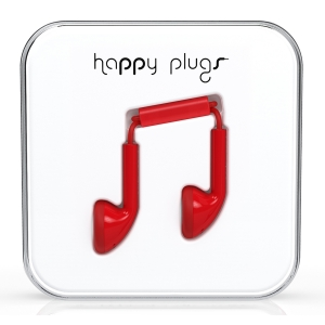 Happy Plugs Red Earbud слушалки с Mic & Remote