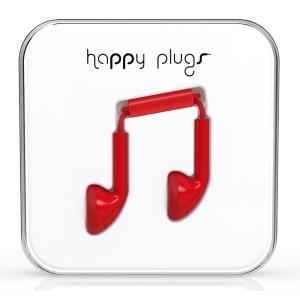 Happy Plugs Red Earbud слушалки с Mic & Remote