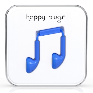 Happy Plugs Blue Earbud слушалки с Mic & Remote