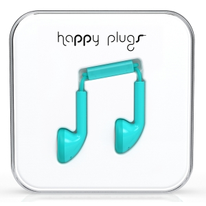 Happy Plugs Turquoise Earbud слушалки с Mic & Remote