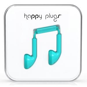 Happy Plugs Turquoise Earbud слушалки с Mic & Remote