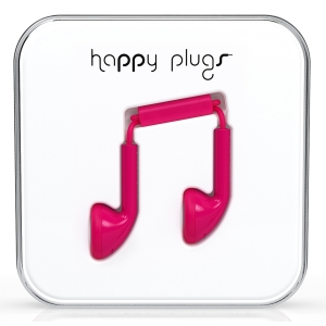 Happy Plugs Cerise Earbud слушалки с Mic & Remote
