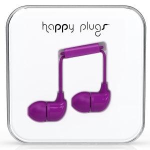 Happy Plugs Purple Earbud слушалки с Mic & Remote
