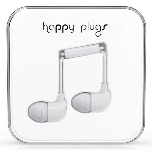 Happy Plugs White Earbud слушалки с Mic & Remote