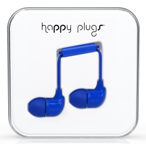 Happy Plugs Cobalt Earbud слушалки с Mic & Remote