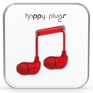 Happy Plugs Red In-Ear слушалки с Mic & Remote