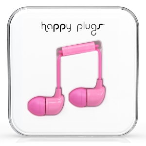 Happy Plugs Pink In-Ear слушалки с Mic & Remote