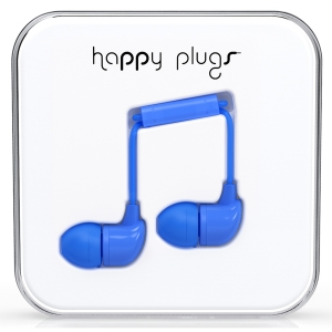 Happy Plugs Blue In-Ear слушалки с Mic & Remote