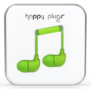 Happy Plugs Green In-Ear слушалки с Mic & Remote