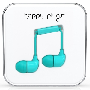 Happy Plugs Turquiose In-Ear слушалки с Mic & Remote