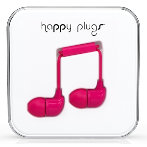 Happy Plugs Cerise In-Ear слушалки с Mic & Remote
