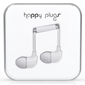 Happy Plugs White In-Ear слушалки с Mic & Remote