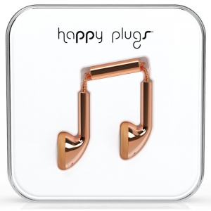Happy Plugs Rose Gold Earbud слушалки с Mic & Remote