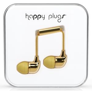 Happy Plugs Gold In-Ear слушалки с Mic & Remote