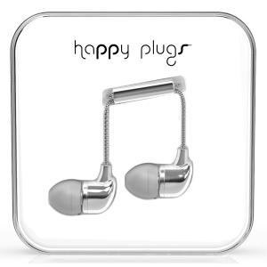 Happy Plugs Silver In-Ear слушалки с Mic & Remote