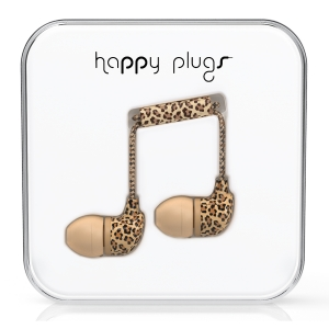 Happy Plugs Leopard In-Ear слушалки с Mic & Remote