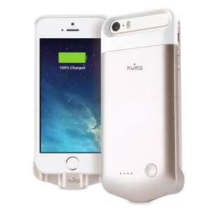 PURO златист калъф с вградена батерия за iPhone 5/5S
