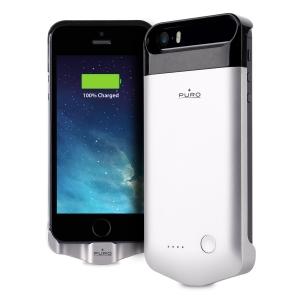 PURO сив калъф с вградена батерия за iPhone 5/5S