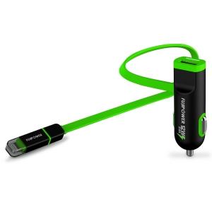 FUJIPOWER MICRO зарядно за кола за таблет и смартфон: зелено