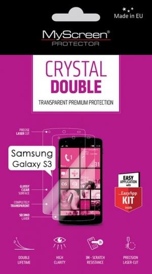 Double Crystal за Sams Galaxy S3 I9300 2бр