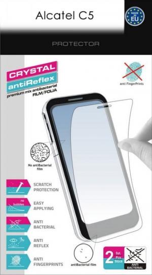 Кристал и антибл фолио за Alcatel C5