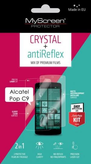 Кристал и антибл фолио Alcatel Pop C9