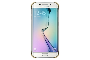 Samsung Galaxy S6 Edge,G925,Clear Cover,Gold