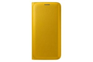 Samsung Galaxy S6 Edge,G925,Flip Wallet(PU),Yellow
