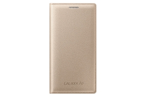 Samsung Galaxy A3,A300,Flip cover,Gold