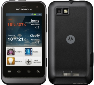 Кристал и антибл фолио за Motorola Defy mini