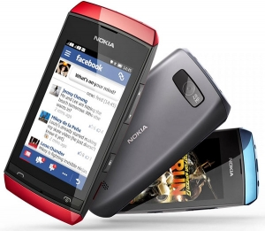 Кристал и антибл фолио за Nokia Asha 305/6