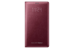 LED Flip Wallet Samsung Galaxy Note 4 Red