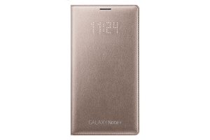 LED Flip Wallet Samsung Galaxy Note 4 Gold