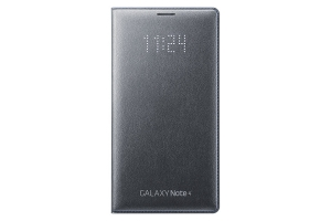 LED Flip Wallet Samsung Galaxy Note 4 Charcoal