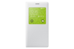S View Cover Samsung Galaxy S5 Mini shimmery WHITE