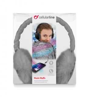 Зимни стерео слушалки с микрофон сиви