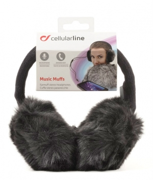 Зимни стерео слушалки с микрофон черни 2015