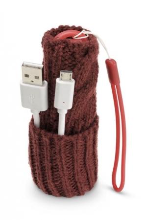 Зимна външна батерия за телефон 2200mAh червена