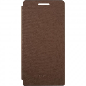 Huawei Flip Leather Case за Ascend P6 brown