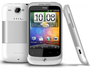 HTC A3333 Wildfire White, Silver