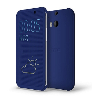 HTC Case Dot Flip HC M110 HTC One E8 Dual SIM bluе