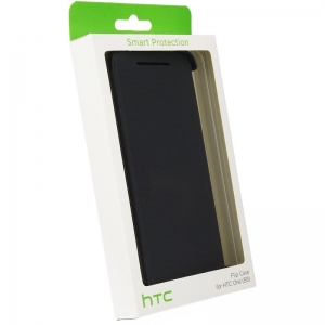 HTC Flip Case HC V980 for HTC E8 grey