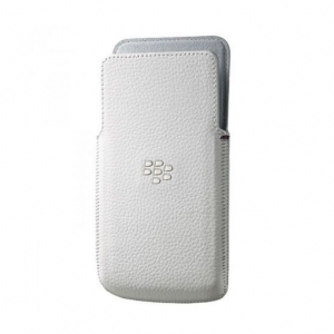 BlackBerry Leather Case for Z30 white