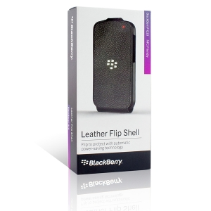 BlackBerry Leather Flip Cover  Q10 black