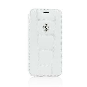 """Book Case FERRARI за iPhone 6 4""""7 white"""