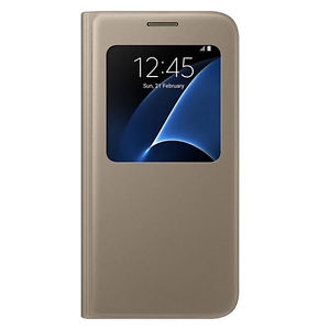 Samsung G930 SViewCover Gold за Galaxy S7