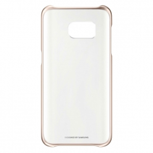 Samsung G930 Clear Cover Gold за Galaxy S7