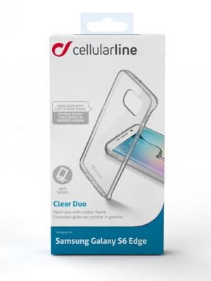 Прозрачен твърд кейс за Samsung S6 Edge