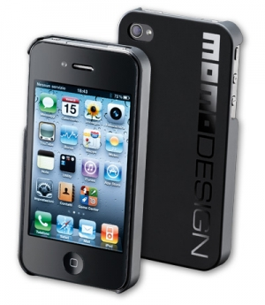 MOMO iPhone 4/4S капак черно лого