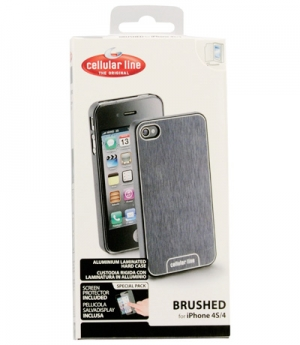 iPhone 4/4S Brushed калъф за iPhone 4/4S бял